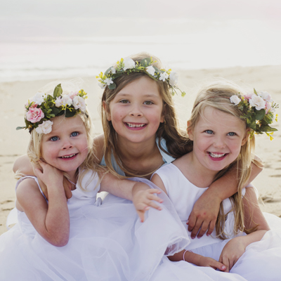 silk pink side set full wreath hair crowns flower girls australia