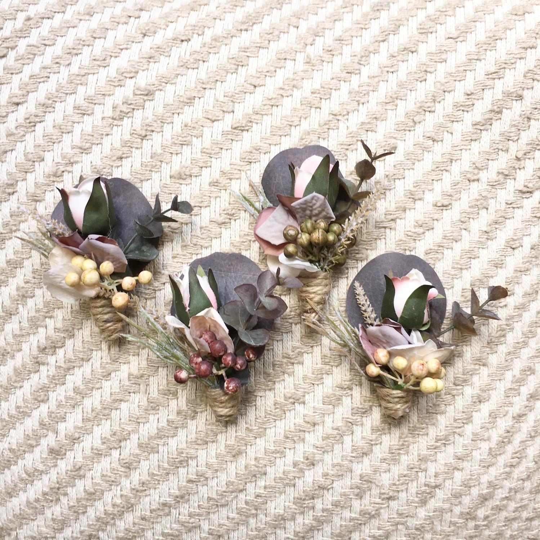 custom made wedding fake flower button holes