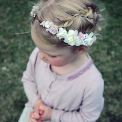 baby kids girls womens lilac lavender pretty flower crown australia