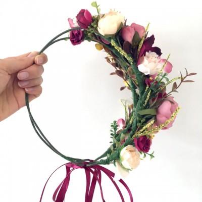 bohemian ladies flower crown