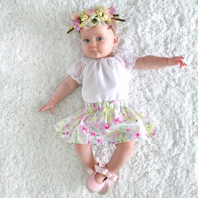 baby girl artificial flower floral crowns
