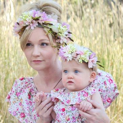 australia handmade flower crowns mummy child
