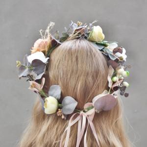 vintage rose flower crown