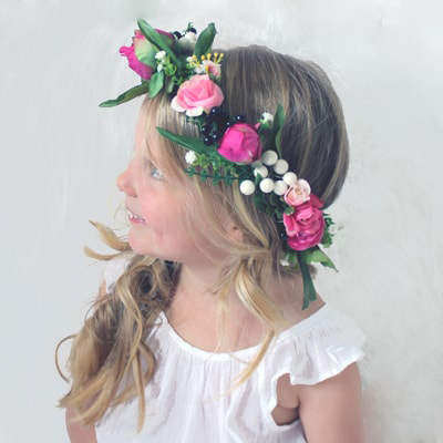 kids silk flower crowns australia