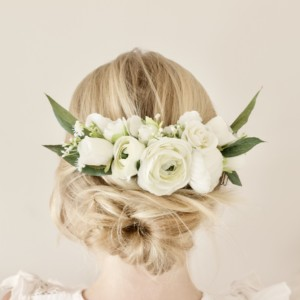 custom made wedding flower girl hair comb