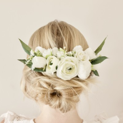 custom made wedding flower girl hair comb