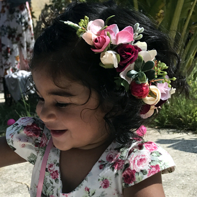kids flower crowns side set