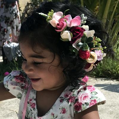 kids flower crowns side set