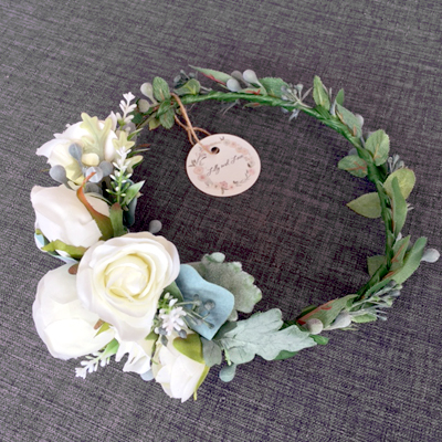 rustic native floral crown wreath hair bridal