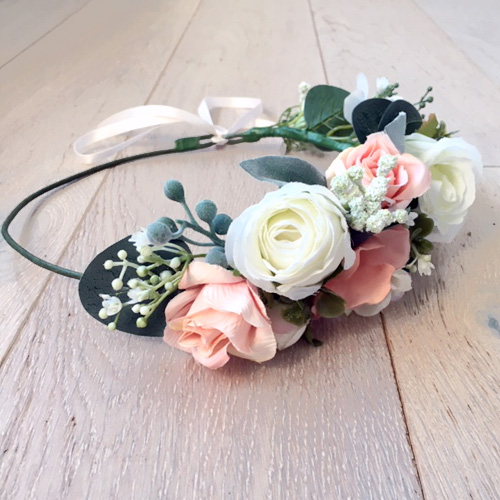 custom made half flower crown Australia