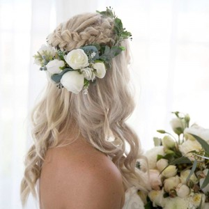 wedding floral crown silk wreath