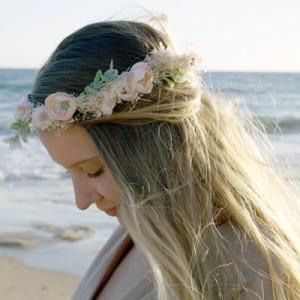 ivory pretty fake flower crown Melbourne