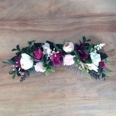 wedding hair flower comb Australia custom