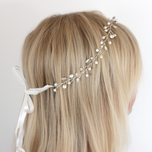 jewel flower girl headband