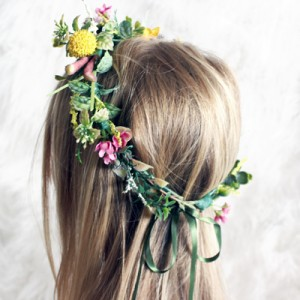 silk wedding flower crowns