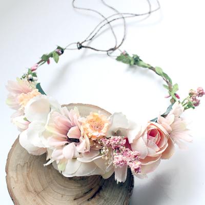 fake flower crowns silk