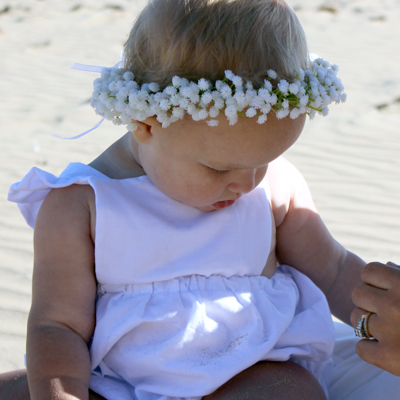 gypso silk baby breath white wedding flower crown kids