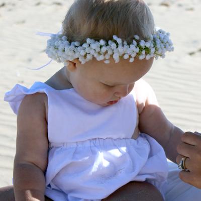 gypso silk baby breath white wedding flower crown kids