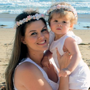 matching mummy baby floral crown wreath
