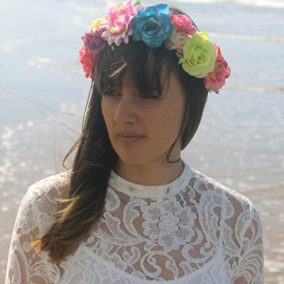 bright Mexican flower crown
