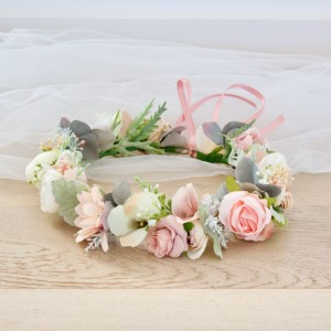 blush rose flower crowns