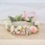 blush rose flower crowns