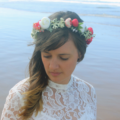 silk handmade flower lace wedding bride crown Australia