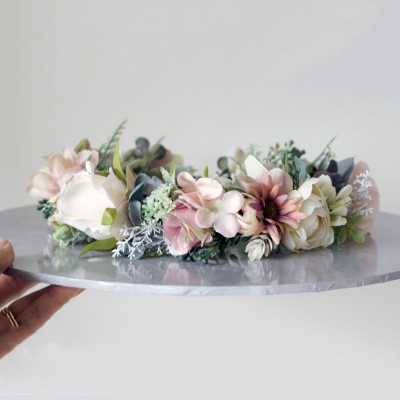 Lilly and lace flower crowns