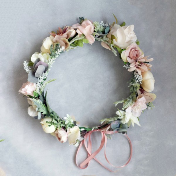 Lilly and lace flower crown