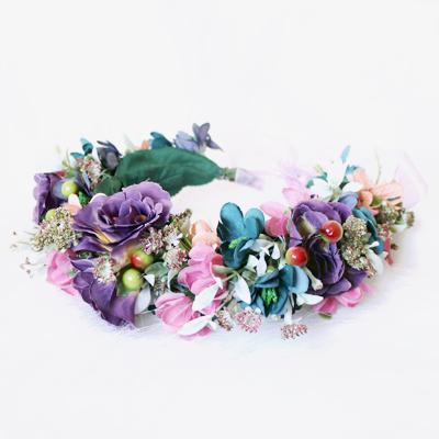garden party silk flower crown