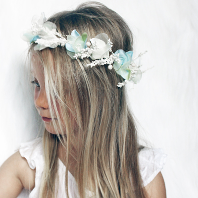 blue dove flower crown