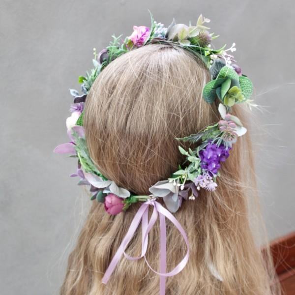 artificial flower hair crowns