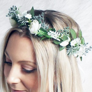 function event head piece floral