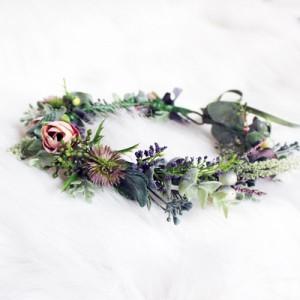 green leafy flower wreath