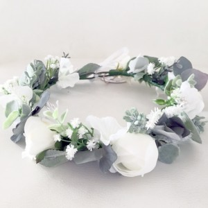 beach bridal floral hair wreath