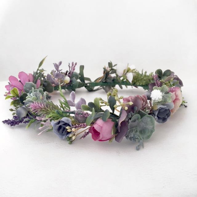 Lavender silk flower crown  Lilly \u0026 Lace