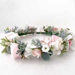 beachy pink kids flower crowns