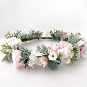 beachy pink kids flower crowns