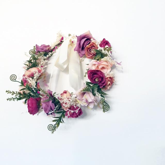 flower hair crown