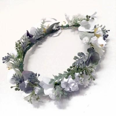 hair flowers white bridal