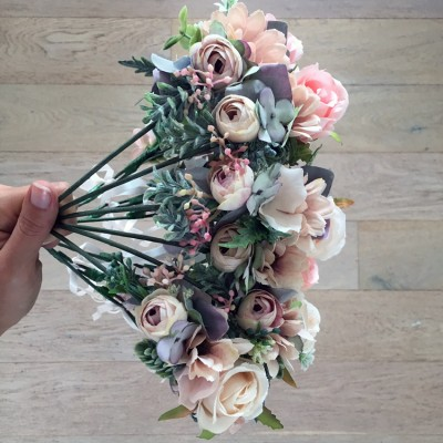 hair crowns floral blush