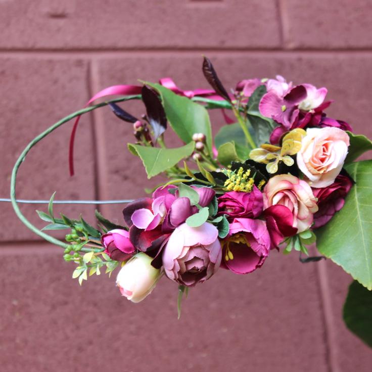 boho leafy flower crown