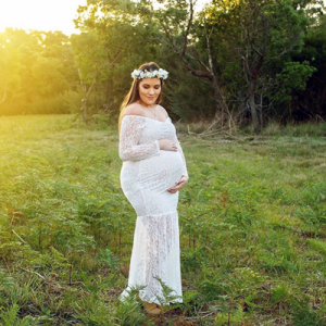 maternity photo shoot headband Australia