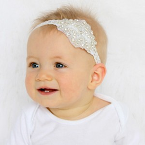 baby christening head band piece