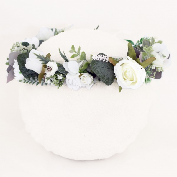 white floral hair flowers wedding
