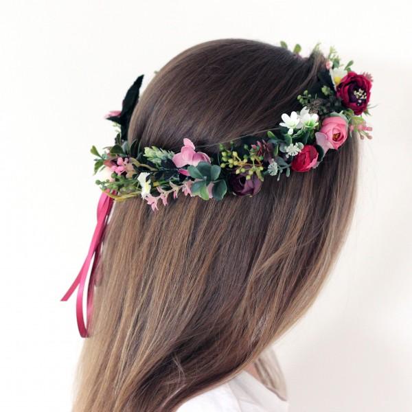 bohemian flower crown leaves