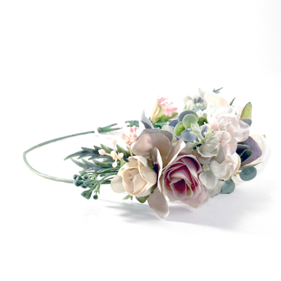 side set half crown silk flowers Melbourne
