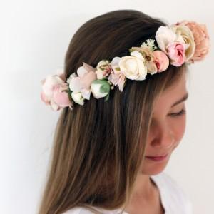 435659ceb78 Serenity Silk Flower Crown (blush nude)