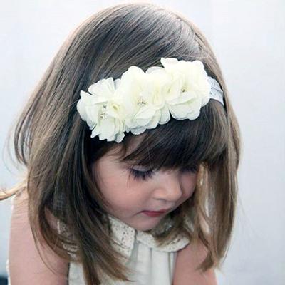 ivory girls flower headband