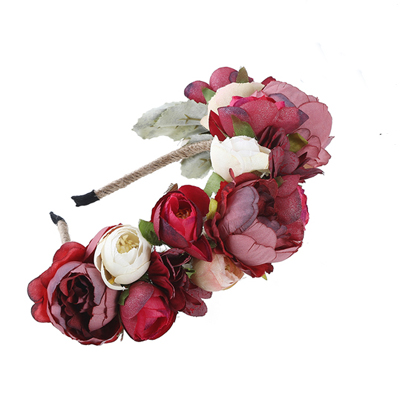 artificial flower headband events races